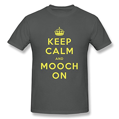 Keep Calm Mooch Boy Fitted Crazy Tshirts - Ultra Cotton front-113807