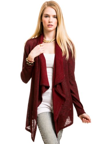 Multiknit Long Cardigan In Red Combo