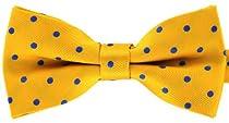 Tok Tok Designs® Handmade Men Bow Ties - B246 (Yellow)