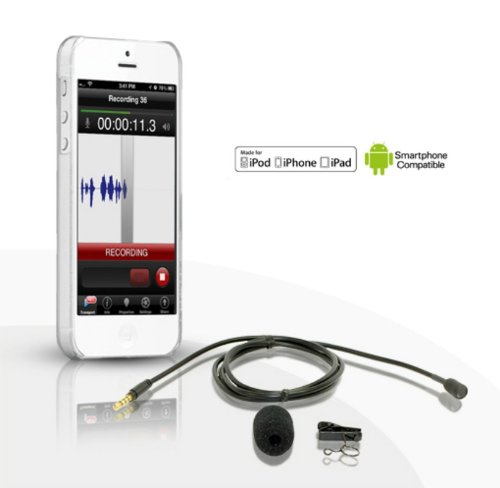 "Professional Lapel Microphone With 78"" Cable For Iphone, Ipad, Ipod Touch, Smartphones And Comptuers"