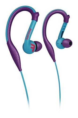 Philips Actionfit Shq3200Pp/28 Earbuds Sports Earphones Earhook Stereo In-Ear Headphones (Purple And Blue)