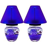 ShadowFax Gel Glass Tea Candle Lamp Rose 15cm Set Of 2 - B01J3O7UX8