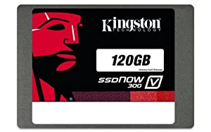 Kingston Digital 120GB SSDNow V300 SATA 3 2.5-Inch Solid State Drive with Adapter (SV300S37A/120G)