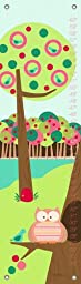 Oopsy Daisy Branch Buddies Pink by Jen Christopher Growth Charts, 12 by 42-Inch