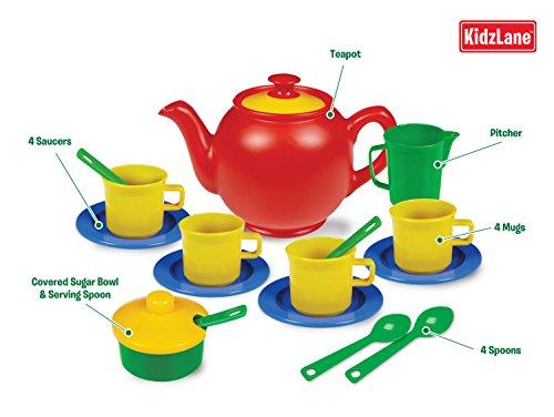 Toy Tea Sets For Boys : Kidzlane play tea set durable plastic pieces safe