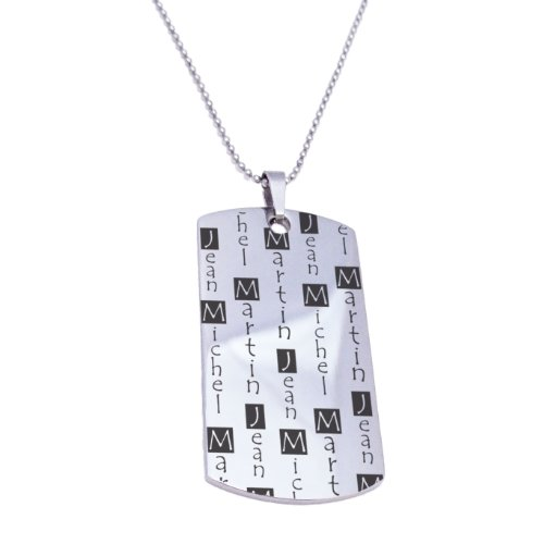 Father's Dog Tag Gift Necklace Personalized With Up to 5 Names