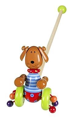 Orange Tree Push Along wooden toy - Dog design