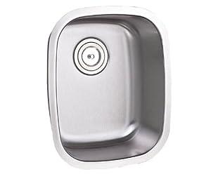 Steel Undermount Single Bowl Kitchen / Bar / Prep Sink - 16 Gauge