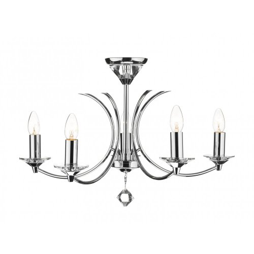 DAR - MEDUSA 8 LIGHT DUAL MOUNT PENDANT K9 CRYSTAL POLISHED CHROME