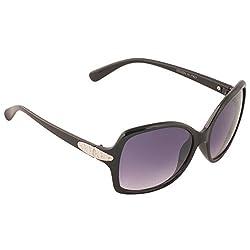 Eyeland Non-Polarized Oversized Sunglasses (Black, EYE262)