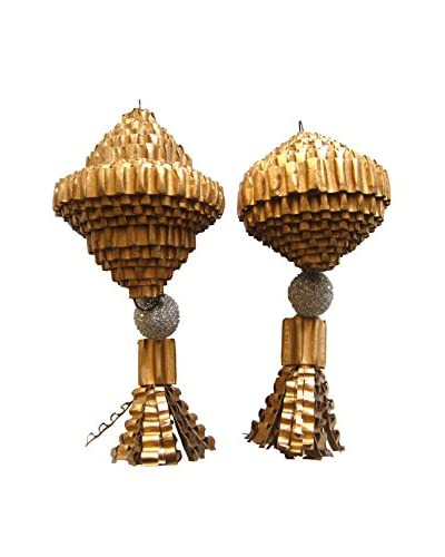 Wendy Addison Set of Two Decorative Gilded Ornaments