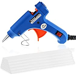 Vastar Hot Glue Gun with 30 Pieces Melt Glue Sticks 20 Watt Melting Adhesive Glue Gun Kit for DIY Small Craft and Quick Repairs in Home & Office
