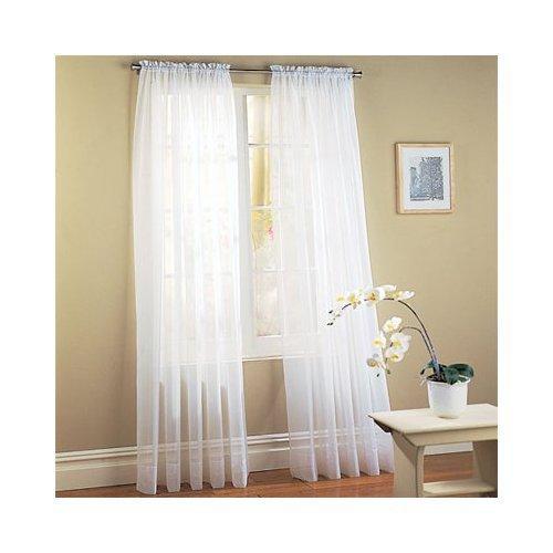 Awardpedia Elegant Comfort 2 Piece Sheer Panel With 2inch Rod Pocket Window Curtains 60