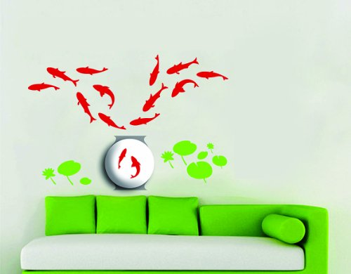 Dream Wall Decal, Fish Pond