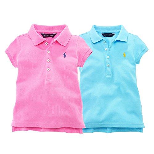ポロ ラルフローレン POLO RALPH LAUREN ポロシャツ 半袖 キッズ 子供 女の子 5(4~5歳),ピンク [並行輸入品]