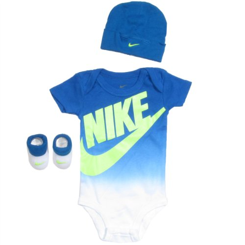 Nike Baby Clothes Nike Dip 3 Piece Set (0-6M) Royal Blue, 0-6 Months