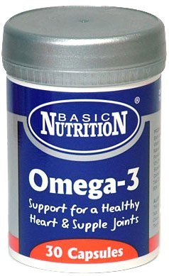 Basic Nutrition 500mg Fish Oil Omega 3 - Pack of 3