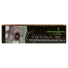 Endangered Species Chocolate Organic Dark Chocolate with Cherry Bar, 1.4 Ounce -- 16 per case.