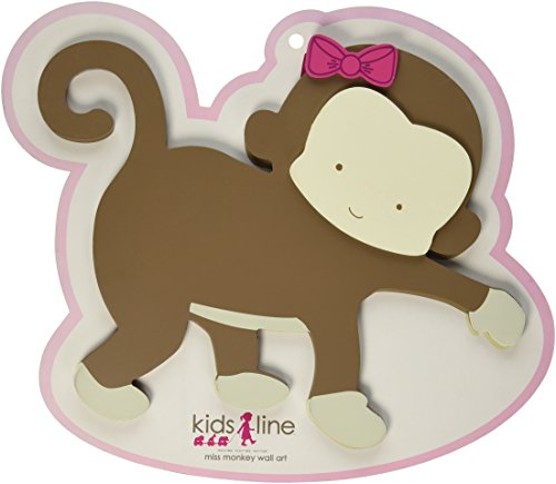 Kids Line Wall Art 3-D, Miss Monkey - 1