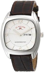U.S. Polo Assn. Classic Men's US5114 Brown Crocodile Strap Watch