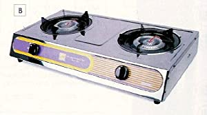 Double Propane Gas stove for outdoor or indoor cooking by M.V. Trading Co.