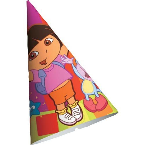 Dora Star Catcher Cone Hats - 8 Count