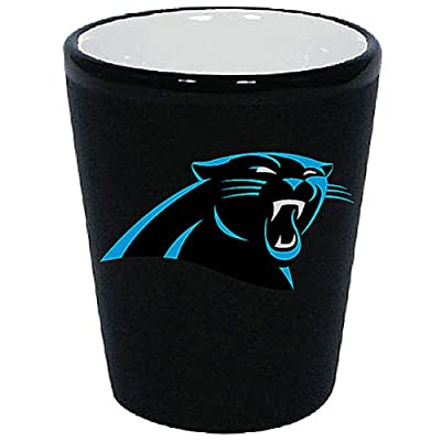 Carolina Panthers 1.5 Oz Two-Tone Ceramic Shot Glass