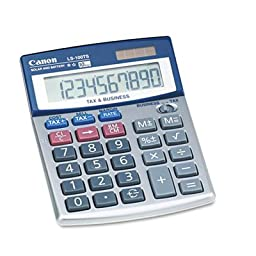 Canon : LS-100TS Compact Desktop Calculator, 10-Digit LCD -:- Sold as 2 Packs of - 1 - / - Total of 2 Each