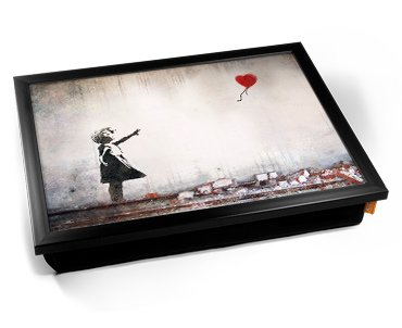 Banksy Heart Balloon Cushion Lap