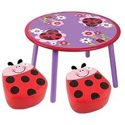 Stephen Joseph Table With 2 Chairs (Ladybug)