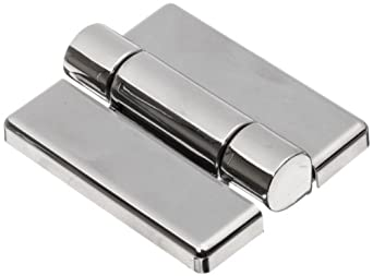 "Friction Hinge with Hole, Zinc Alloy, Chrome, 2-9/16"" Leaf Height, 1-31/32"" Open Width, 17.0 lbs/in Torque per piece (Pack of 1)"
