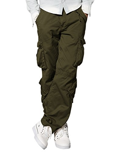 match-mens-retro-casual-cargo-trousers-3357army-green36