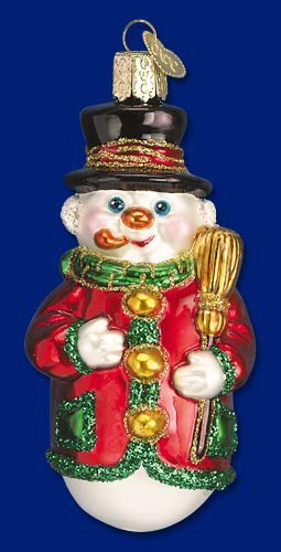 Old World Christmas Candy Mold Snowman Glass Ornament