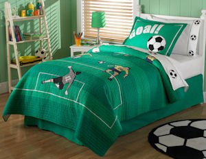 Soccer kid's bed quilts