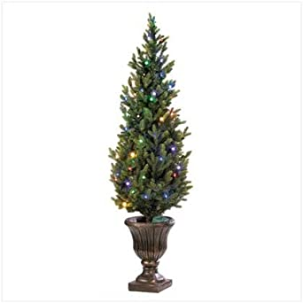 Indoor Outdoor 5Ft Faux Christmas Tree With Led Lights