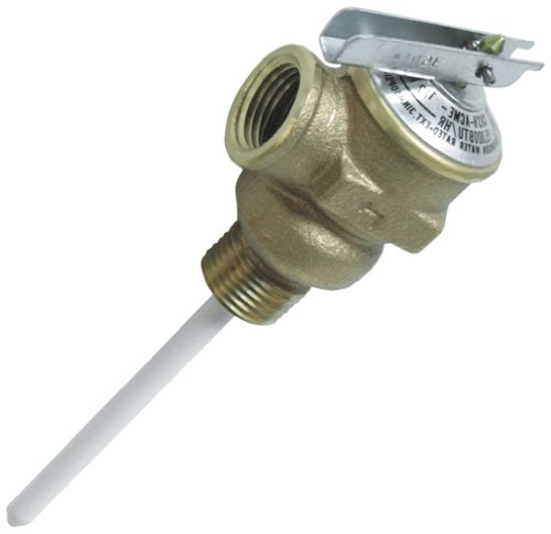 "Camco 10423 1/2"" Temperature And Pressure Relief Valve With 4"" Epoxy-Coated Probe front-626058"