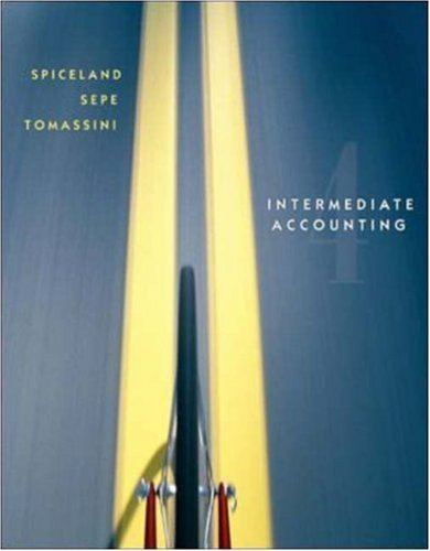 Spiceland, J. David; Sepe, James; Tomassini, Lawrence's Intermediate Accounting Revised 4th Edition 4th (fourth) edition by Spiceland, J. David; Sepe, James; Tomassini, Lawrence published by McGraw-Hill/Irwin [Hardcover] (2007)