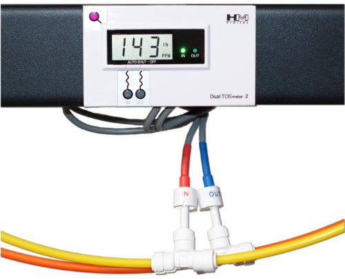 HM Digital DM-2 Commercial In-Line Dual TDS Monitor, 0-9990 ppm Range, +/- 2% Readout Accuracy