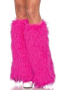 Leg Avenue Women's Furry Leg Warmers, Hot Pink, One Size
