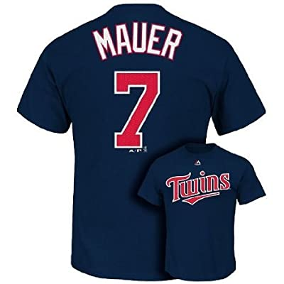 Joe Mauer #7 Minnesota Twins MLB Men's Player Name & Number T-Shirt