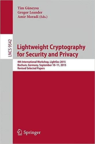 Großformat des Buches: Lightweight Cryptography for Security and Privacy - 4th International Workshop (LightSec 2015)