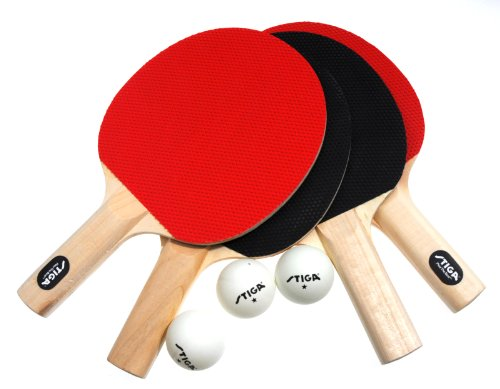 Discover Bargain Stiga Classic 4-Player Table Tennis Racket Set