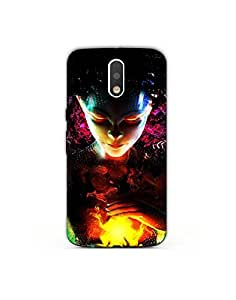 Moto e3 ht003 (17) Mobile Case by Mott2 - Majestic Girl with Fire in Water
