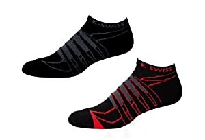 K-Swiss 2.0 iMPACT Blade Jetster Socks (2-Pack) - fiery red/black, large