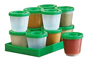 Fresh N Freeze 2 Ounce Reusable Baby Food Containers 12-Pack