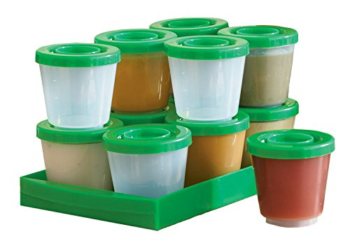 Fresh N Freeze 2 Ounce Reusable Baby Food Containers 12-Pack (2 Oz Plastic Cups With Lids compare prices)