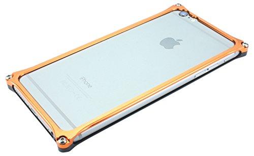 【Amazon.co.jp限定】ソリッドバンパー for iPhone6/6s 液晶面ブラック・背面オレンジ GI-242BO