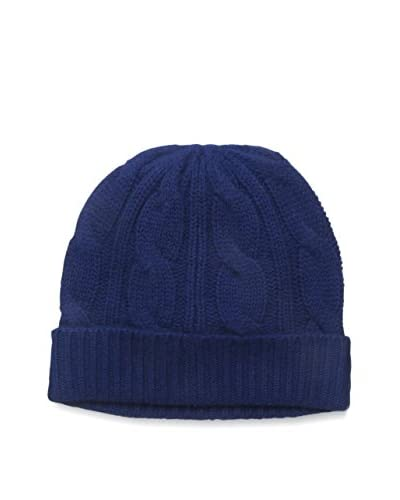 Sofia Cashmere Women's Cable Hat, Navy As You See
