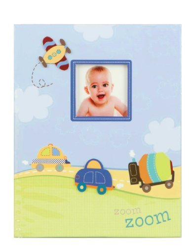 """""""Zoom Zoom"""" Baby'S First Record Memory Book Keepsake First 5 Years Car Plane Boy Baby Book front-1007006"""