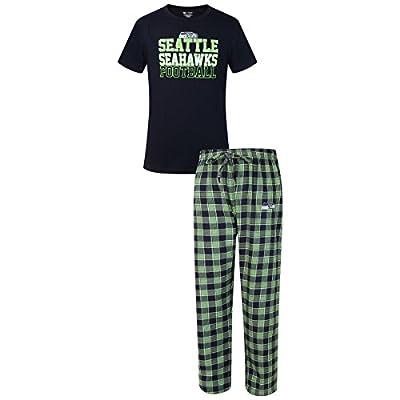 """Seattle Seahawks NFL """"Medalist"""" Men's T-shirt & Flannel Pajama Pants Sleep Set"""